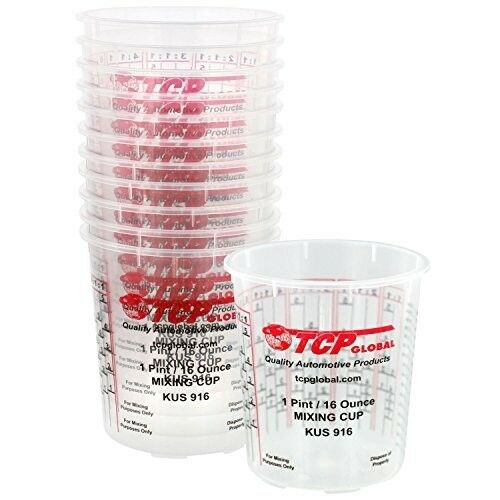 Auto Paint Mixing Cups Custom Shop 12pcs 16oz Calibrated Rat