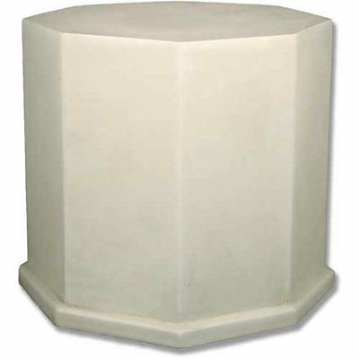 Octagon Pedestal For Garden Urn/Pot/Statue- By Orlandi- Fiberglass-19.5