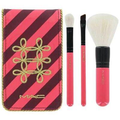 MAC Nutcracker Sweet Essential Brush Kit 167SE, 217SE, 266SE wGr8 Case Authentic