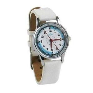 Nurse Watch White Leather Medical Quadrant Dial Think Medical 01109