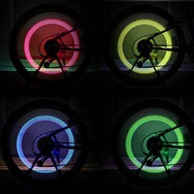 4pcs Wheel Tire Light Spoke Lamp LED Valve Cap Bicycle Cycling Bike Motor USA ()