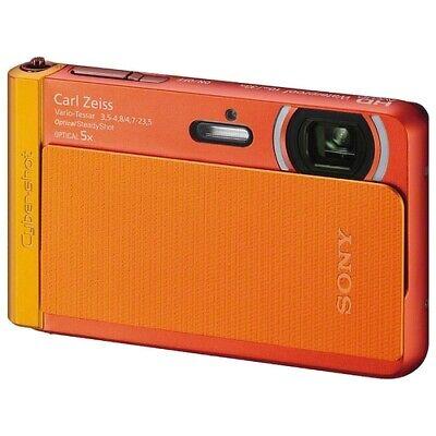 Sony Cyber-shot DSC-TX30 18.2MP Digital Waterproof Camera - Orange