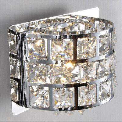 Modern LED 1-Light Bath Vanity Light Indoor Crystals&Stainless Steel Wall Sconce 1 Light Vanity Wall Sconce