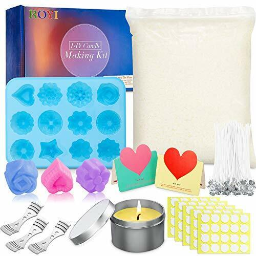 DIY Candle Making Supplies, 220 Pcs Soy Wax Candle Basic Candle Making Kit