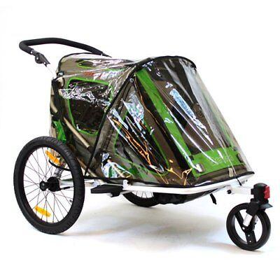 QERIDOO Regenschutz für Kinderfahrradanhänger Speedkid2 Transportwagen Handwagen