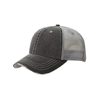 MG Lightweight Vintage Style Washed Mesh Trucker Baseball Cap Hat](Mg Hats)