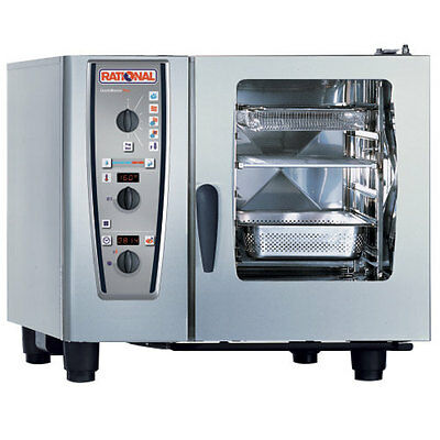 Rational Model 61 A619106.12.202 Electric Combi Oven With Six Half Size Sheet P