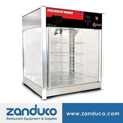 Omcan 41468 Counter Top Pizza Food Warmer Display Case 4 Shelves 18 Diameter