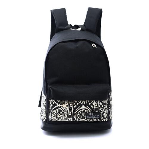 Women's Vintage School Bag Backpack Rucksack Travel Laptop S