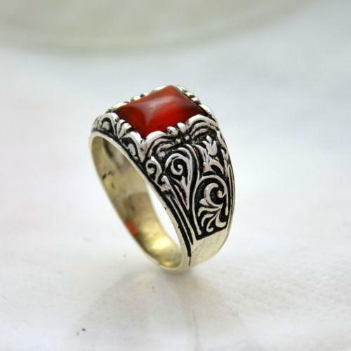 Mens Silver Rings With Stones Ebay