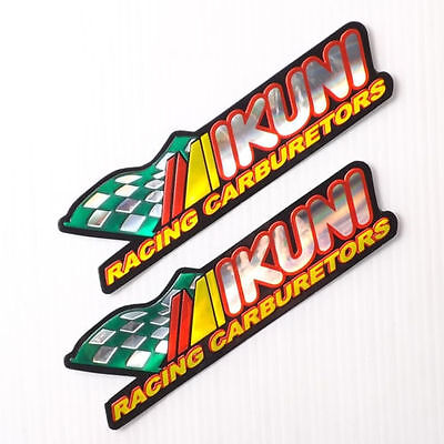 MIKUNI CARBBURETTOR ,3D EFFECT  RACING FOIL  STICKERS DECALS. UK, FREEPOST