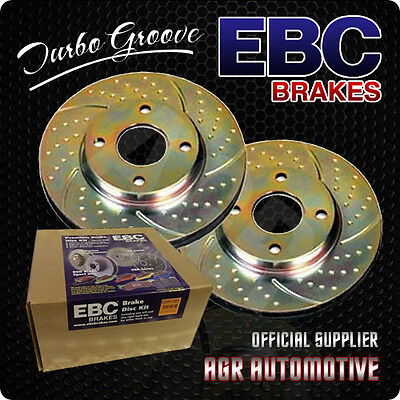 EBC TURBO GROOVE REAR DISCS GD615 FOR CITROEN SAXO 1.6 8V 1996-03