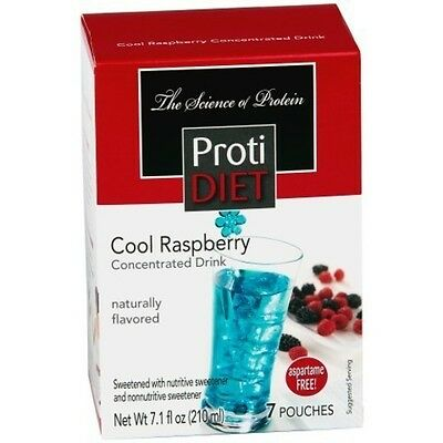ProtiDiet - High Protein Diet Drink | Cool Raspberry | Low Calorie, Low Fat -