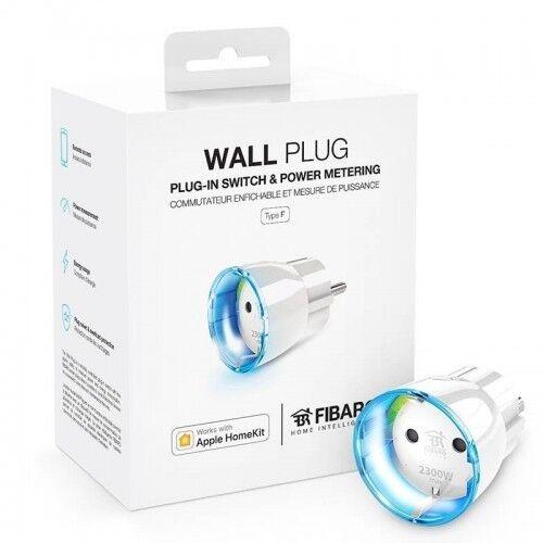 FIBARO - Apple HomeKit Compatible WALL PLUG Type F, FGBWHWPF-102