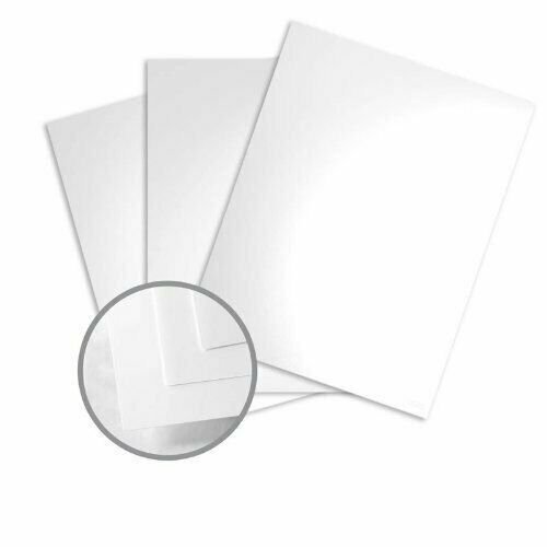 """12 x 18"""" Color Copy Glossy C/2S Pure White Cardstock - 100lb Cover, 250 Per Pack"""