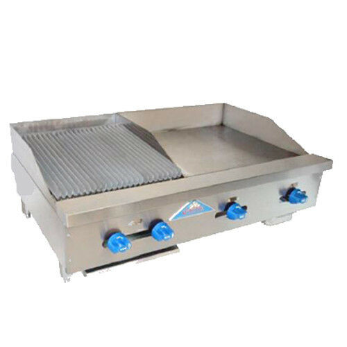 """Comstock Castle Fhp42-24-1.5rb 42"""" Gas Griddle/charbroiler - Iron Radiants"""