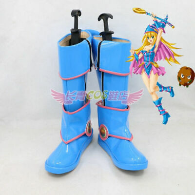 Yu-Gi-Oh! Dark Magician Girl Cosplay Boots Shoes Cos Shoes @x