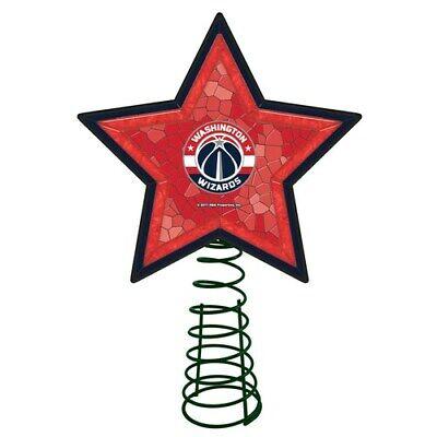 Washington Wizards NBA Mosaic Christmas Tree Topper NBA Basketball Light Up Star