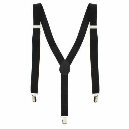 Black Adjustable Braces Mens Women