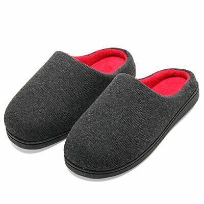 Zapatillas de casa de Hombre, Ultraligero cómodo y (42/43 EU Ancho Negro Rojo)