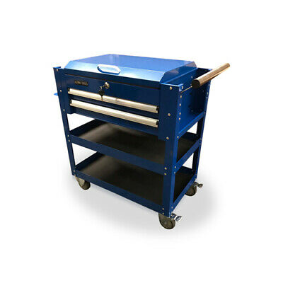 470 US PRO TOOLS MOBILE STEEL TOOL CART TROLLEY WORKSTAION BLUE HEAVY DUTY