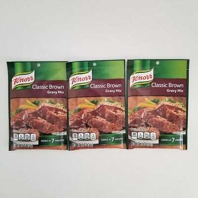 Knorr Classic Brown Gravy Mix  3 Packs Best by