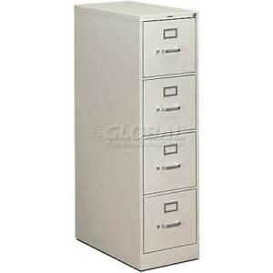 "HON® - 310 Series 4 Drawer Vertical File 26-1/2""D Letter Grey"