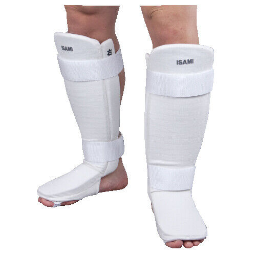 ISAMI Easy Shin Guard Color White Size S leg guard from JAPAN FedEx tracking NEW