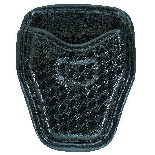 Bianchi Black 7934 Basketweave Accumold Elite Open Top Handcuff Cuff Case Pouch