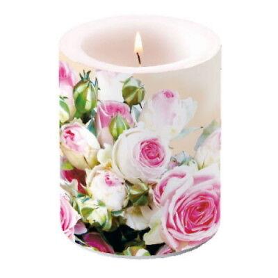 Große Lampion - Kerze Windlicht Wachslaterne  ~ Rose Maxima creme