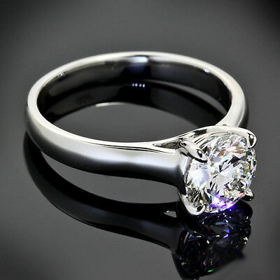 GIA Certified .70 Carat G/I1 Round Cut Diamond Engagement Ring White Gold 1