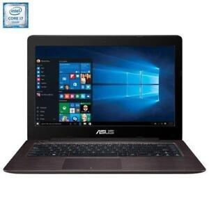 "ASUS X456UJ ,HD 14 ""  Intel i7-6500U, 2.5GHZ  12GB, 1TB, NVIDIA  GT920M, DVD, Mc Office Pro 2016"