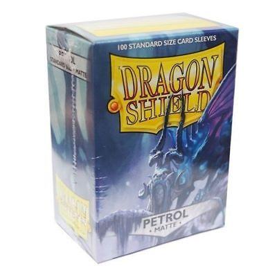 Matte Dragon Shields Standard Size Card Protector Sleeves MTG 100ct Petrol box