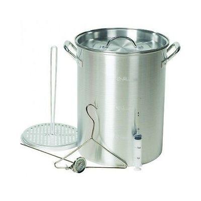 Aluminum Deep Fryer 30 Quart Pot Kit Turkey Fryer Outdoor Propane Stockpot NEW