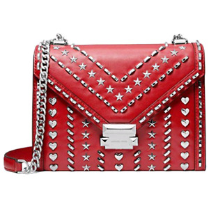 Authentic Michael Kors x Yang Mi Collection Red Leather Satchel