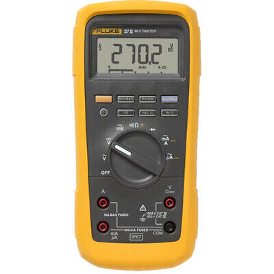 Fluke 27ii Fact. Recond. Rugged Ip 67 Industrial Digital Multimeter
