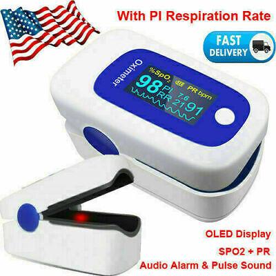 Fda Finger Pulse Oximeter Oxygen Saturation Spo2 Pr Pi Respiration Ratealarm Ce