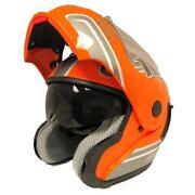 Full Face Motorcycle Helmet Orange