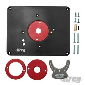 Router table insert ebay kreg router table insert plate inc level loc rings predrilled for triton 474721 greentooth Gallery