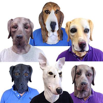 Latex Hund-Maske Beagle Bluthund Labrador Terrier Kostüm - Beagle Jungen Kostüm