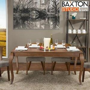 NEW* BAXTON STUDIO DINING TABLE - 117670363 - BROWN