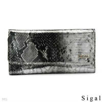 SIGAL BEIGE, TWO TONE & SILVER POLYURETHANE  WALLETS