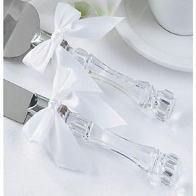 Wedding Cake Knife and Server Set with Acrylic Handle