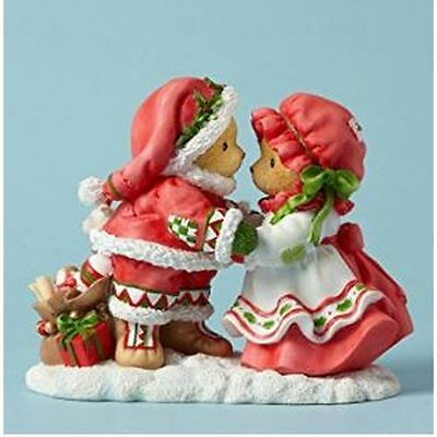 New Enesco Enesco Cherished Teddies Hugs and Mistletoe Kisses Figurine