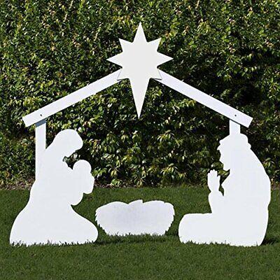 Holy Family Outdoor Nativity Set (Large, White)