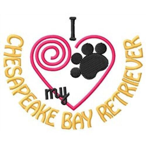 """I """"Heart"""" My Chesapeake Bay Retriever Ladies Fleece Jacket 1351-2 Size S - XXL"""