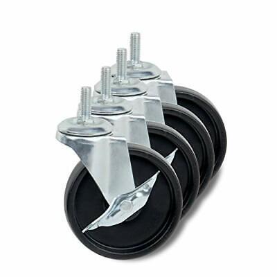 4 Universal Caster Roller Wheel Heavy Duty Wire Shelving Unit Rack Shelf 4 Pcs