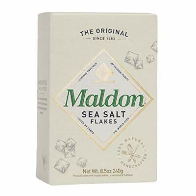 Maldon Salt Sea Salt Flakes 8.5 oz 240 g Kosher Natural Handcrafted Gourmet P...