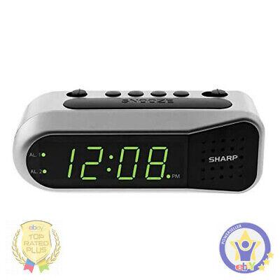 LED Digital FM Radio Alarm Clock Dual Alarm Snooze Sleep Time Battery Backup EU