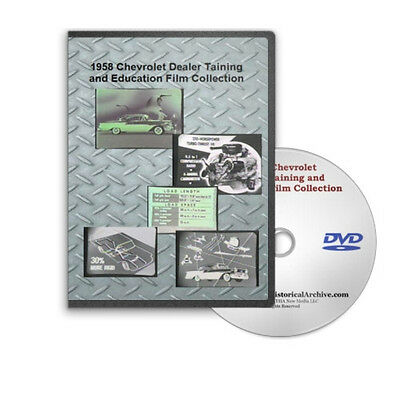 1958 Chevrolet Chevy Dealer Training &amp Education Series Styling Engines DVD C193